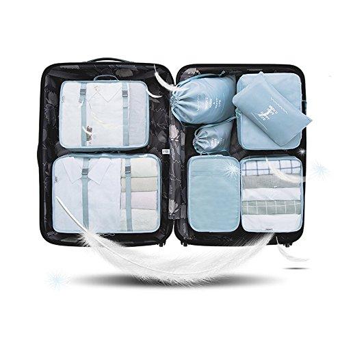 AeeYui 8Juego Sistema de cubo de viaje–3Cubos de embalaje +