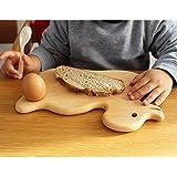 """Frühstücksbrettchen mit Tiermotiv """"Ente"""" aus Buche"""