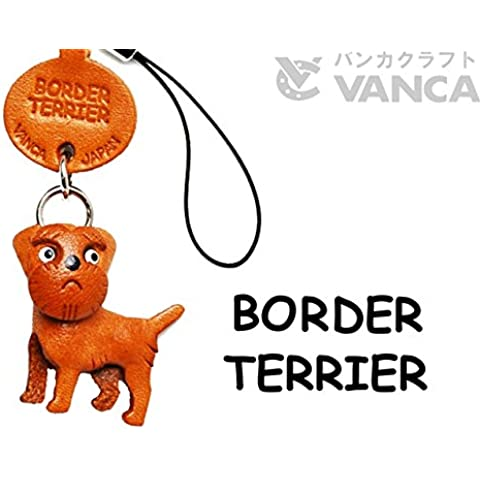 Border Terrier Cane Pelle Custodia/Cellphone Charm VANCA craft-collectible Cute Mascot Made in Giappone