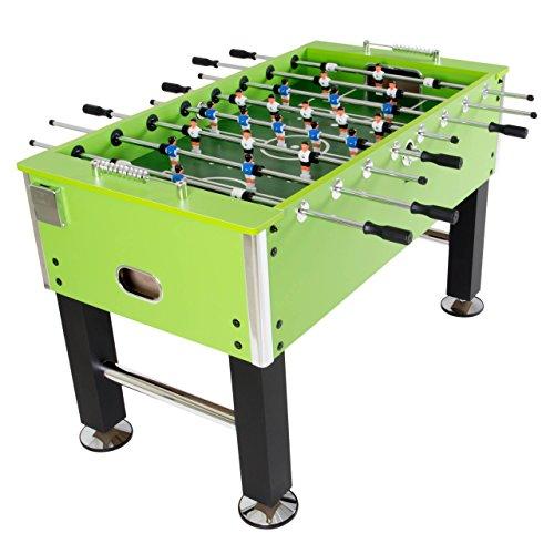 Nexos Tischkicker Kickertisch Tischfußball Profikicker grün Brasilia inkl. 4 Bälle, 2 Getränkehalter, höhenverstellbare Füße massiv 75 kg