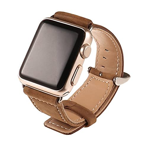 Cuitan Durable PU Leather Watch Band for 42mm Apple Watch iWatch, with Adapter Replacement Watchband Wrist Band Bracelet Strap Wristband for Apple Watch (Not included