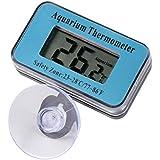 Termometro digital para acuario pecera con ventosa color azul
