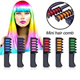 6PCS/SET Mini Disposable Hair Color Chalk Professional Crayons For Hair Dyeing Tool Personal Salon Use Hair Dye Comb for Party Fans Cosplay