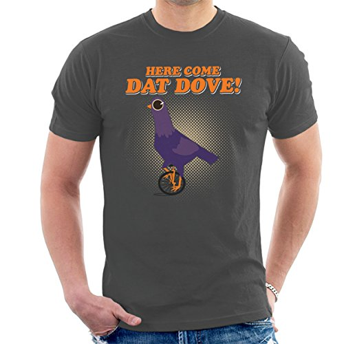 Trash Doves Here Come Dat Dove Men's T-Shirt Charcoal