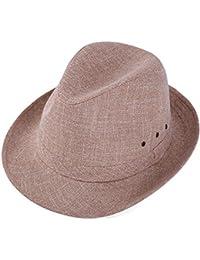 GMING-Hat Sombrero Chapeau Sombrerería Tocado Diseño En Color Sólido  Sombrero De Copa Sombrero De Caballero Sombrero De Cáñamo… bfd7db67b2f