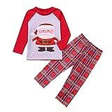 BaZhaHei-Navidad Mamá Papá Noel Tops Blusa Pantalones Pijamas Familiares Ropa de Dormir Trajes de Navidad Conjunto Traje de Servicio a Domicilio de Manga Larga Damas de Manga Larga para Mujer niño