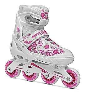 Roces Mädchen Inline-skates Compy 8.0, white-violet, 30-33, 400809