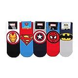 Marvel lizenzierte Socken (6 Paar) mit INTYPE Pouch (EU 41-43.5 UK 7.5-10) NA
