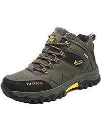 Zapatos de senderismo para hombre - hibote Botas de combate impermeables Botas tácticas Botas de montaña para exteriores Calzado deportivo