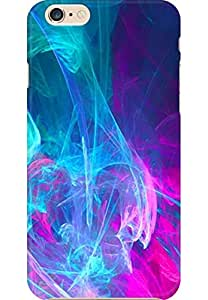 AMEZ designer printed 3d premium high quality back case cover printed hard case cover for Apple iPhone 6S Plus (Abstraction Light Pink Blue Purple)