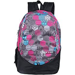 Polestar Ranger 30 lt Pink/Black lite weight casual school college Backpack bag with laptop compartment