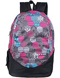 POLE STAR Polyester 30Liters Pink And Black Casual Backpack