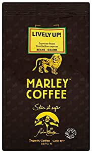 Marley Coffee Organic Lively Up Espresso Roast Whole Bean Coffee Bag 227g