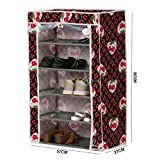 #6: 5 Tiers Shoe Rack Space Saving Shoe Tower Cabinet Storage Organizer