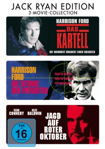 Das Kartell / Die Stunde der Patrioten / Jagd auf Roter Oktober [3 DVDs]