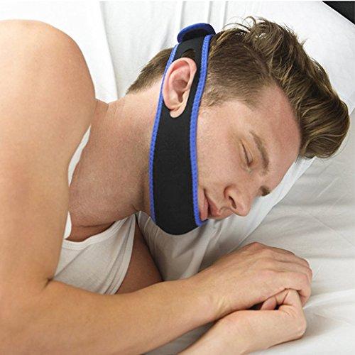 Einstellbare Schnarchen Kinnbackenriemen Schnarchstopper Stirnband für Lösung Einfache Atmung und Schnarchen (Verländerte Größe, Flach Größe 76x9CM) (Stirnband Erweiterungen)