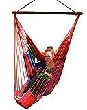 Hängesessel mit Fußteil, Hängesitz, Sitzhängematte bis 140 kg, ohne Kissen, Farbe :272 Nikolina