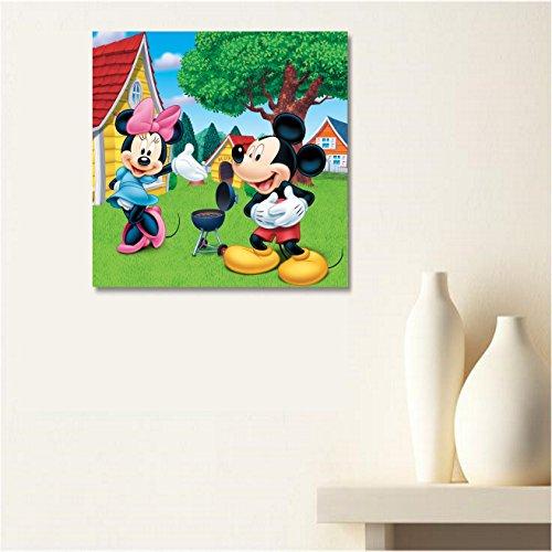 AUX Prix Canons–cuadro lienzo Canvas Disney casa Mickey Mini 40X 50cm