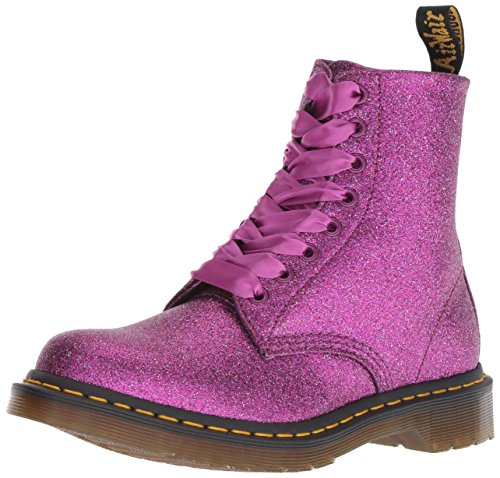 Dr. Martens 8 Eyelet Lace Up Bt Purple Glitter - 5 Uk