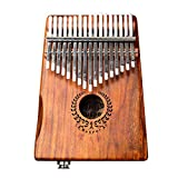 Ben-gi 17 Chiavi Kalimba Tastiera di Piano Elettrico Piano di Legno Tuner Martello Carry Bag o Kit di Cavi Song Book