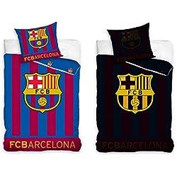 Juego de cama del Barcelona F.C., incluye funda para almohada y edredón, brilla en la oscuridad