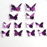DIY PVC Sticker Wallpaper Aufkleber, Stillshine - 3D Stereo Mirror Butterfly Wall Aufkleber und Wandbilder Wand Aufkleber Wallpaper abnehmbare Wand Dekor dekorativ (Stil 5)