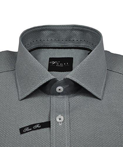 Michaelax-Fashion-Trade - Chemise casual - À Pois - Col Chemise Classique - Manches Longues - Homme Grau (700)