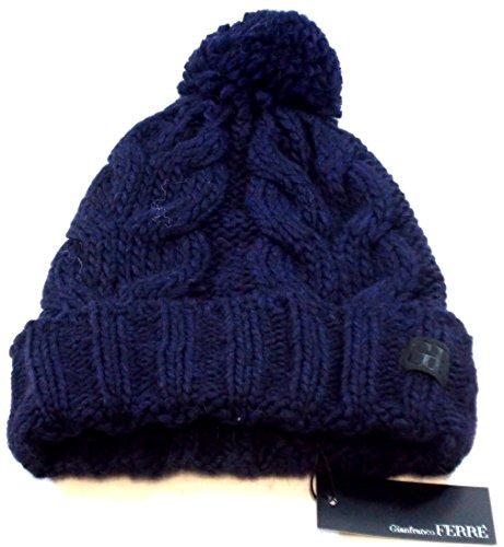 gianfranco-ferre-cappello-risvolto-donna-made-in-italy-blu