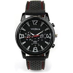 OrrOrr Fashion Men's Black Stainless Steel Luxury Sport Analog Quartz Wrist Watch
