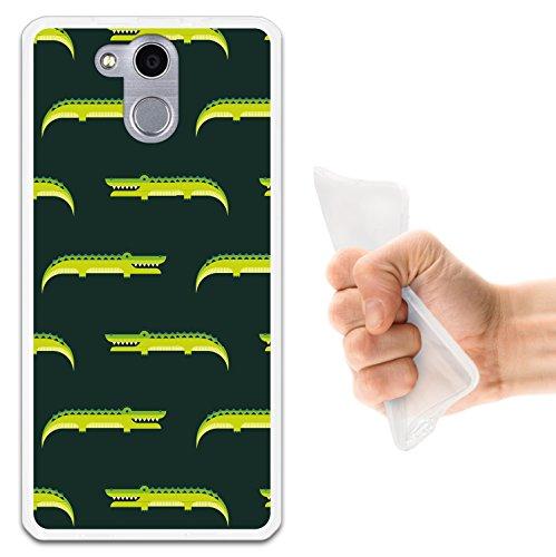 WoowCase Elephone P7000 Hülle, Handyhülle Silikon für [ Elephone P7000 ] Tier Krokodilmuster Handytasche Handy Cover Case Schutzhülle Flexible TPU - Transparent