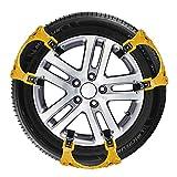 CARWORD 6 pz Universale Auto Auto Neve Anti-Skid Catene Catene da Neve Invernali Veicoli Ruota Antiscivolo Antiscivolo Gomma per 155-285mm