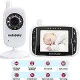 HelloBaby Video Babyphone mit Nachtsicht & Temperatursensor, Zwei-Wege Talkback System (HB32)