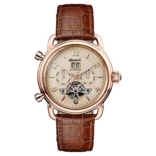 Reloj Automático Ingersoll para Hombre con Oro Analogico Y Marrón Cuero I00901