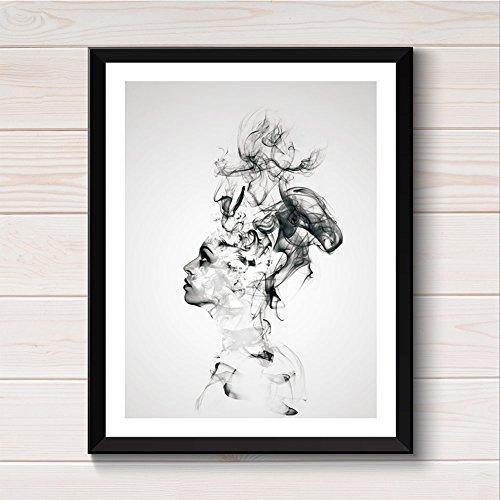 WuWxiuzhzhuo Ausverkauf Abstrakte Boy Canvas Print Wandkunst Malerei Poster Bild Schlafzimmer Wohnkultur