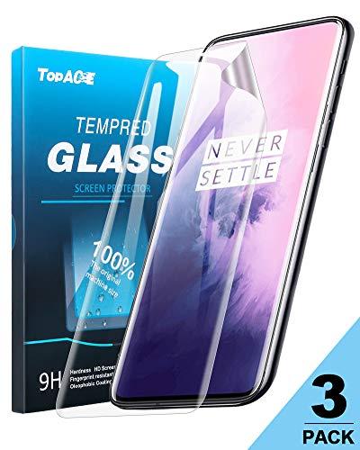 TOPACE Schutzfolie für Oneplus 7 Pro Ultra-klare Flexible Schutz Film Vollständige Abdeckung Bildschirmschutzfolie für Oneplus 7 Pro (3 Pack)