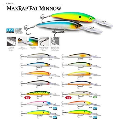 Rapala MXRFM09FGFR ffiger tiefer MAX RAP FAT MINNOW-Farbe FGFR, 9, 13 g -