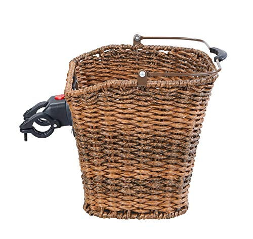 Büchel Fahrradlenkerkorb, hochwertiges Polyrattan, naturbraun, 40505510