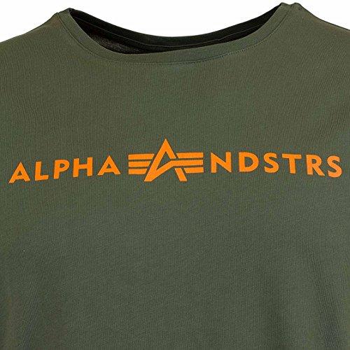 Alpha Industries Herren Oberteile/T-Shirt Alphandstrs Olive