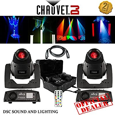 2x CHAUVET DJ INTIMIDATOR SPOT 255 IRC MOVING HEADS WITH CHS- X5X CASE + IRC-6 REMOTE + 3M DMX LINK LEAD from CHAUVET
