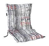 Madison 7MONLC067 - Cuscino Annabeth per sedia impilabile a schienale basso, 75% cotone, 25% poliestere, 100x50x8 cm