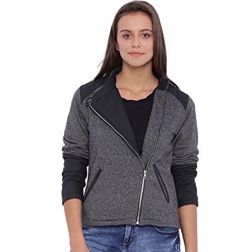 Campus Sutra Women Charcoal Jacket(AW16L_JKCRZHN_W_PLN_CHBL_XL)
