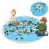 BelleStyle Kinder Spielzeug Aufbewahrungstasche, Großes Baumwoll Segeltuch Spielzeugsack Bewegliches Einfaches Aufgeräumtes Spiel Aufbewahrungs Matte - Schnellere Aufräumung!
