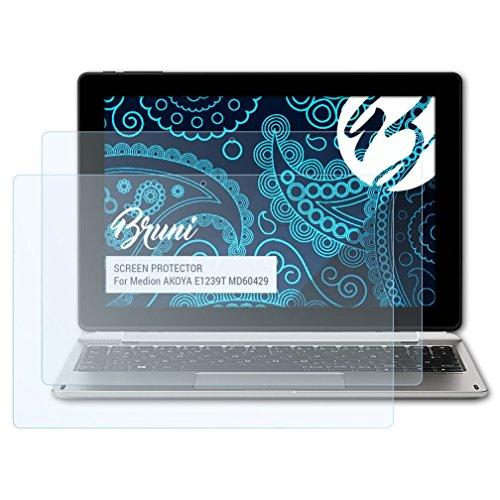 Bruni Schutzfolie kompatibel mit Medion AKOYA E1239T MD60429 Folie, glasklare Bildschirmschutzfolie (2X)