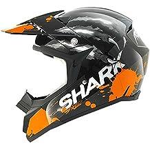Tiburón SX2Predator casco de Motocross, hombre mujer, 210/HE2227U/KOS3, Black Orange Silver