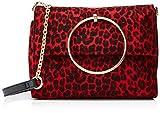 New Look Damen Leopard Matilda Umhängetasche, Rot (Red Pattern), 9.5x17.5x25.5 Centimeters