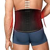 TURBO Med orthopädischer Rückenstützgürtel mit 4 Lumbalstützen bei Rückenschmerzen Überlastung
