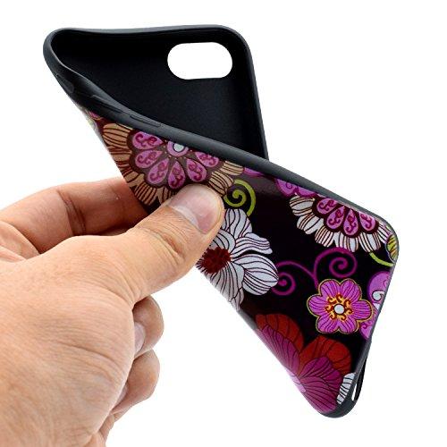 Custodia Cover iPhone 7/8 Bumper TPU Case, Ukayfe Trasparente Crystal Caso Cover Custodia Bumper Morbida TPU Silicone Gel Gomma Flessibile Sottile Fina Invisibile Ultra Thin Slim per iPhone 7/8 con St Ayaka