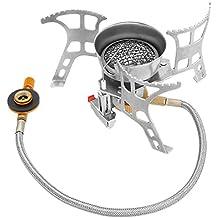 isYoung Estufa de Gas Quemador hornillo de Butano Horno de Split Plegable Portátil A Prueba de Viento Cocinar Al Aire Libre para cocina de camping senderismo etc