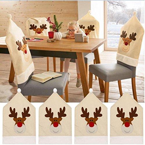 Coprisedia renne di Natale (Set da) Cervo di Natale decorazione della tavola 50x 60cm