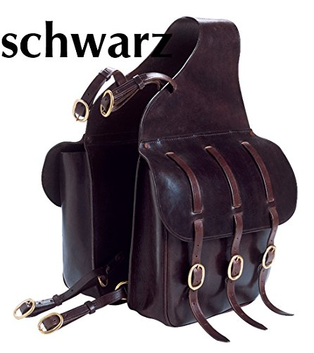 Amesbichler Doppelpacktasche Satteltasche für Pferde, schwarz